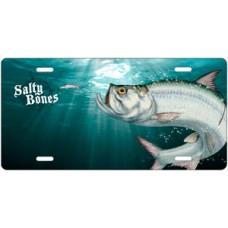 Salty Bones Tarpon License Plate