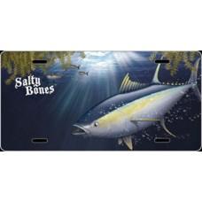 Salty Bones Tuna License Plate