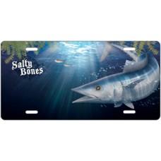 Salty Bones Wahoo License Plate