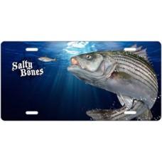 Salty Bones Striped Bass License Plate