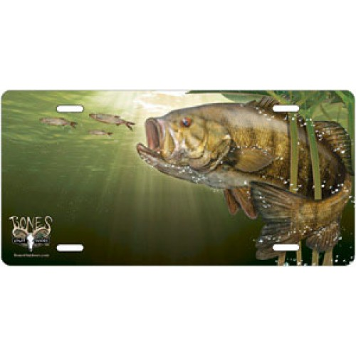 Smallmouth bass offset license plate fish license plates for Fishing license plate