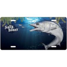 Salty Bones Kingfish License Plate