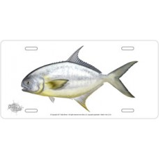 Pompano on White License Plate