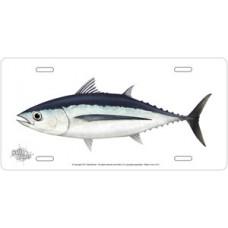 Albacore Tuna on White License Plate