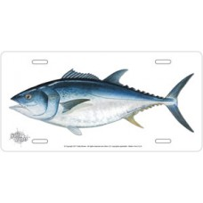 Bluefin Tuna on White License Plate