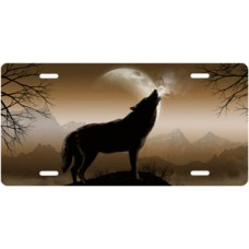 Howling Wolf on Mocha License Plate