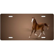American Saddlebred on Mocha Offset License Plate