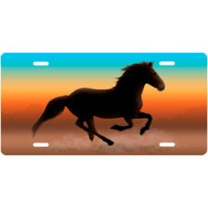 Full Color Mustang License Plate