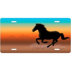 Mustang on Full Color Offset License Plate