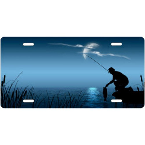Fishing on blue offset license plate hunting and fishing for Ohio out of state fishing license
