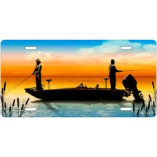 Boat Fishing on Full Color License Plate