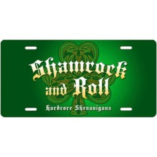 Shamrock and Roll Hardcore Shenanigans License Plate