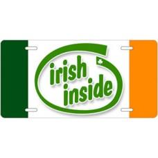 Irish Inside License Plate