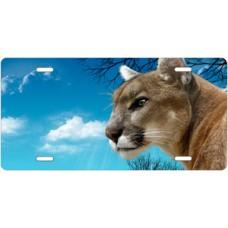 Blue Sky Cougar License Plate