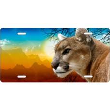 Full Color Cougar License Plate