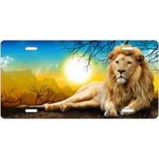 Full Color Lion License Plate