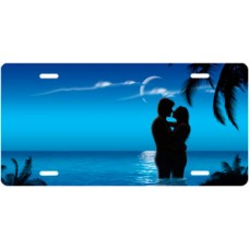 Blue Ocean Lovers License Plate