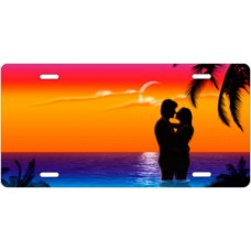 Full Color Ocean Lovers License Plate