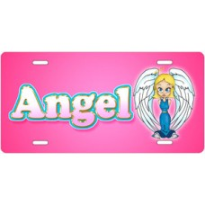 Angel on Pink License Plate