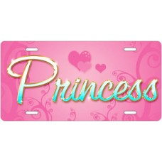 Princess on Pink License Plate