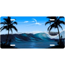 Blue Wave Palms Scenic License Plate