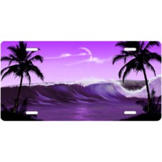 Purple Wave Palms Scenic License Plate