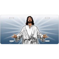 Jesus on Blue License Plate