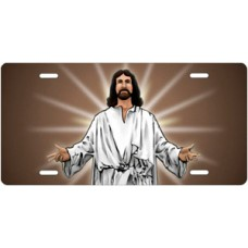 Jesus on Mocha License Plate