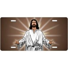 Jesus on Mocha License Plate