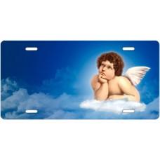 Cherub in the Clouds License Plate