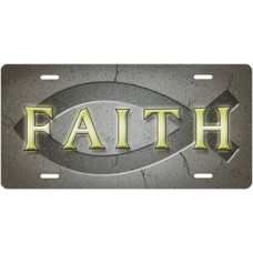 Ichthus Faith on Gray License Plate
