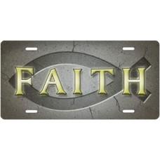 Ichthus Faith on Gray License Plate