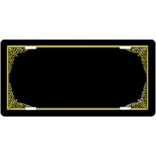 Stylized Border License Plate