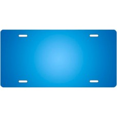 Light Blue Ringer License Plate