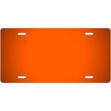 Orange Ringer License Plate