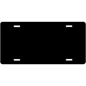 Solid Black License Plate
