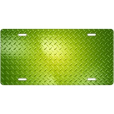 Green Diamond Plate License Plate