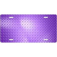 Purple Diamond Plate License Plate