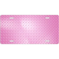 Pink Diamond Plate License Plate
