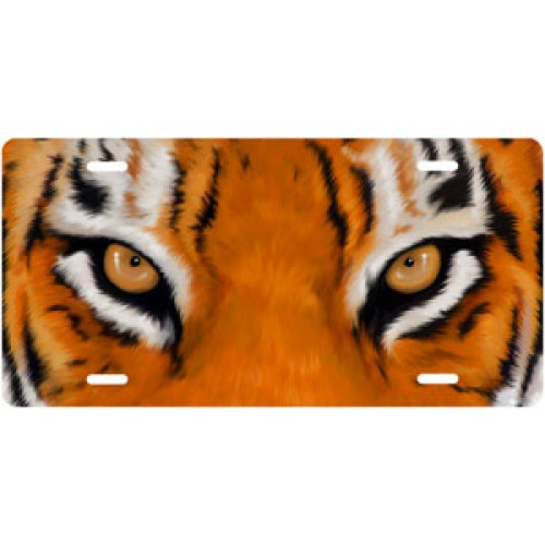 Tiger Eyes License Plate