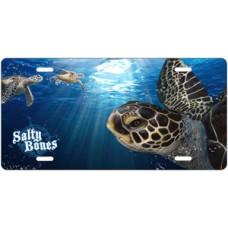 Salty Bones Sea Turtles License Plate