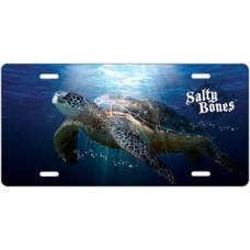 Salty Bones Sea Turtle License Plate
