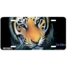 """""""Bengal Tiger"""" Airbrushed License Plate"""