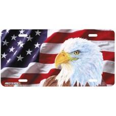 """Flag Illumination II"" Patriotic Airbrushed License Plate"