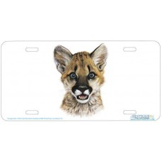"""""""Cougar Cub"""" Airbrushed License Plate"""