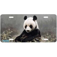 """Hsing Hsing"" Panda Bear Airbrushed License Plates"