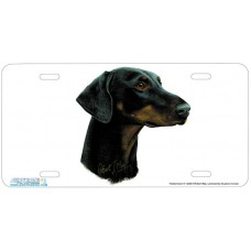 Dobermann II Airbrushed License Plate