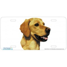 Golden Retriever Airbrushed License Plate