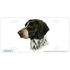 German Short Hair Pointer Airbrushed License Plate