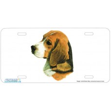 Beagle Dog Airbrushed License Plates